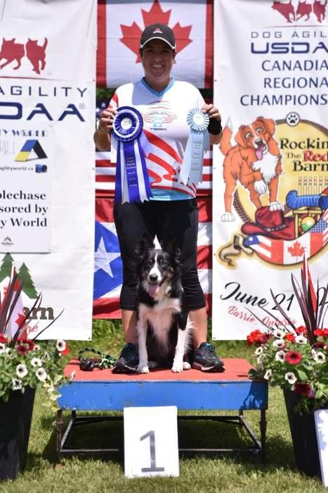 sheyla on canada regional podium first place